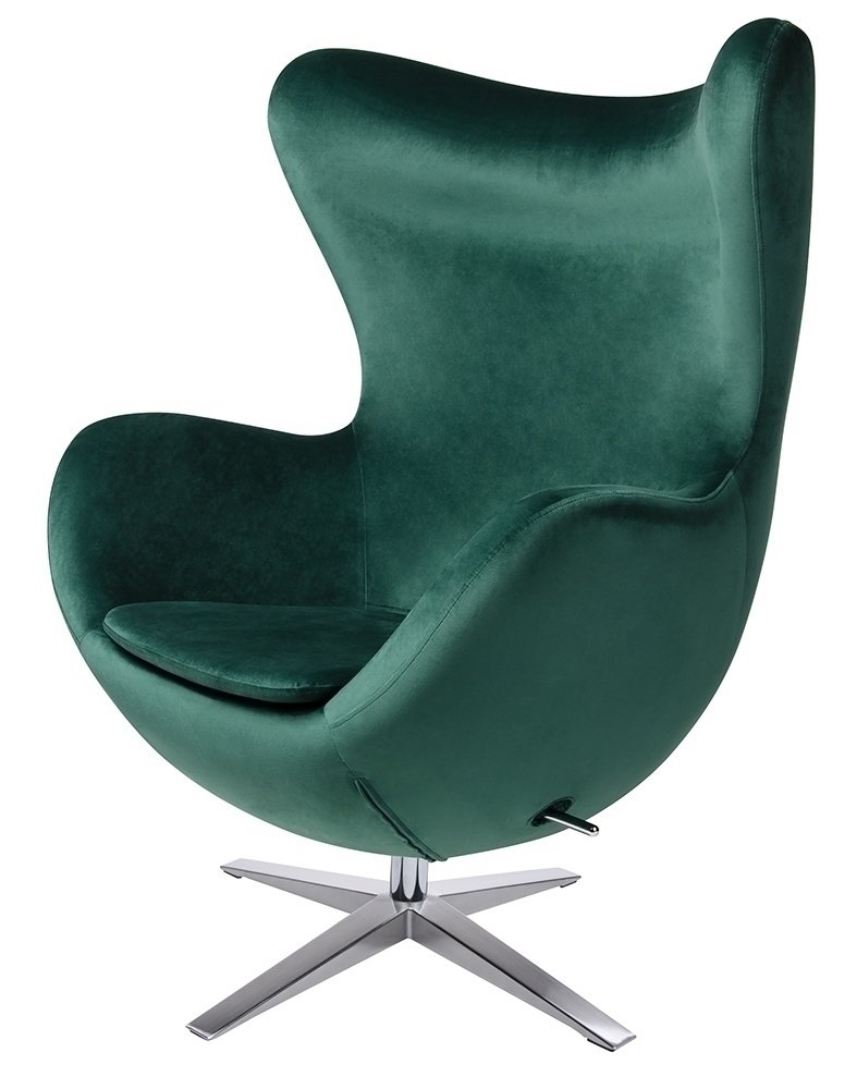Fotel EGG SZEROKI VELVET ciemny zielony