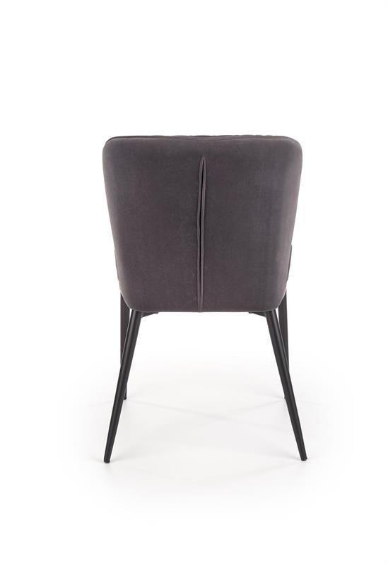 Krzesło K399 VELVET popielate