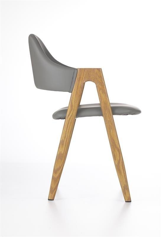 Krzesło K247 popielaty/dąb miodowy