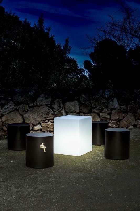 Lampa ogrodowa CUBY 20 SOLAR biała - NEW GARDEN