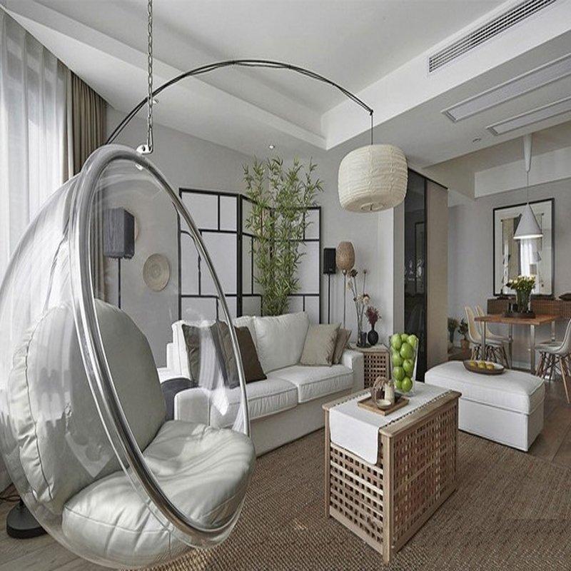 Fotel wiszący BUBBLE poduszka srebrna