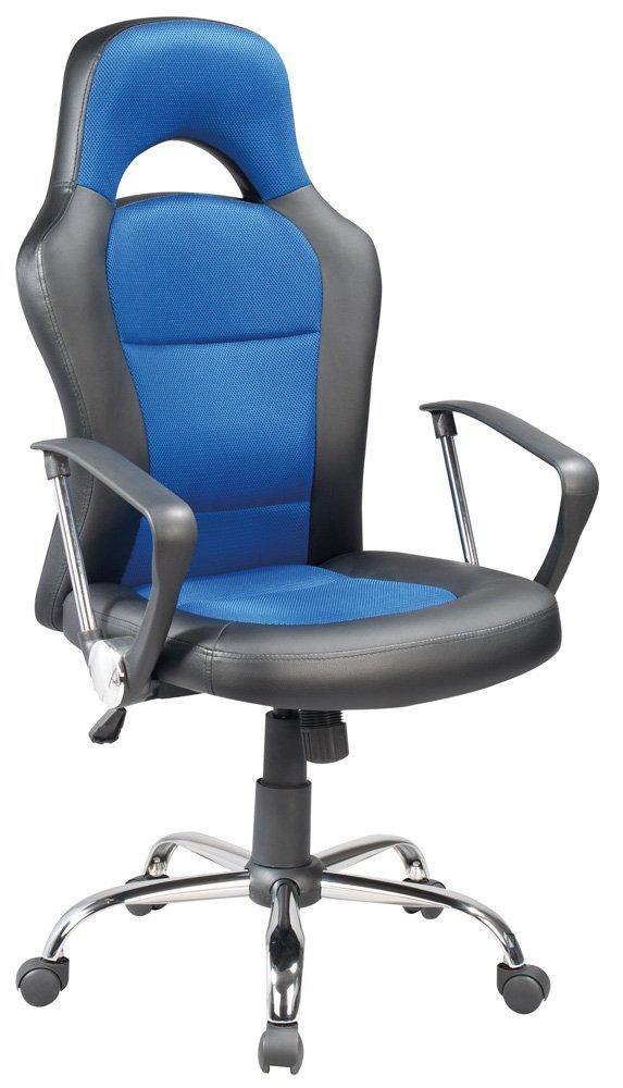 Fotel obrotowy Q-033 niebiesko-czarny