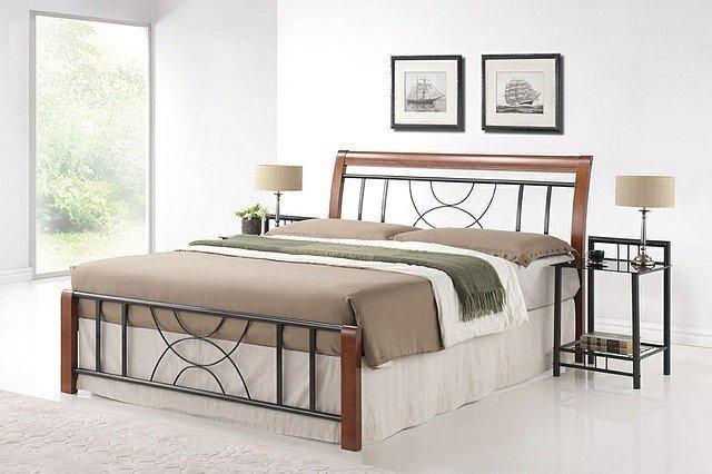 Łóżko CORTINA czereśnia antyczna