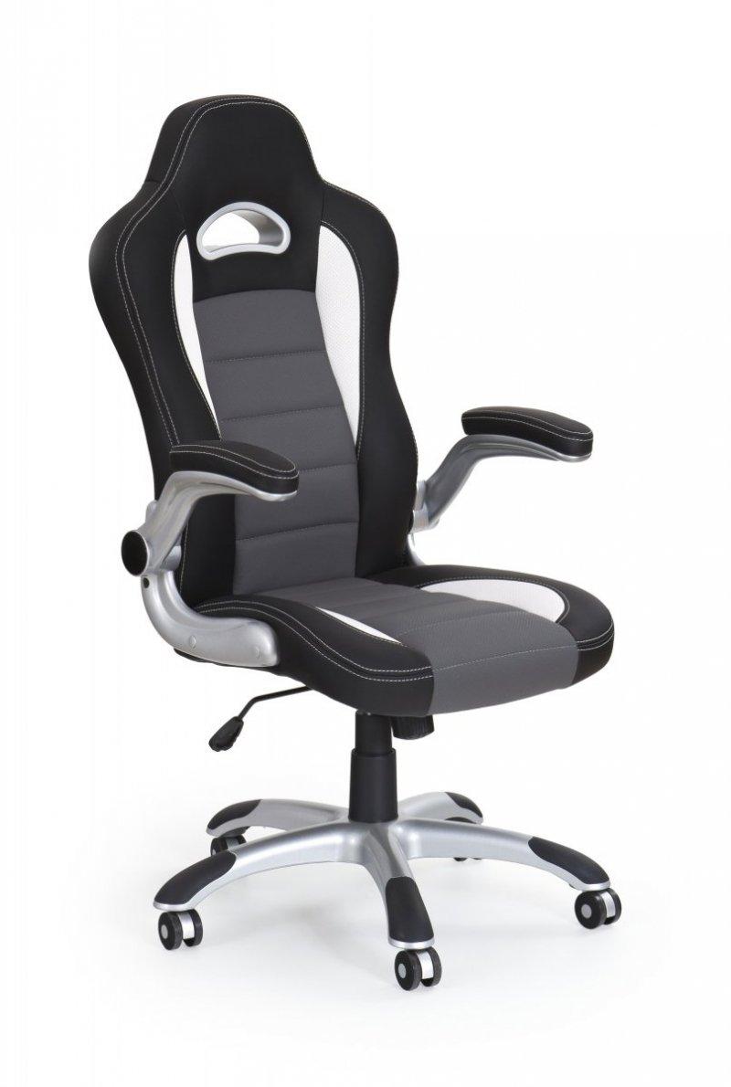 Fotel gabinetowy LOTUS czarno-popielaty