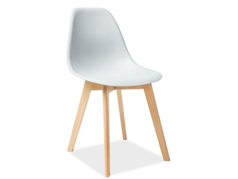 Krzesło MORIS buk/jasny szary