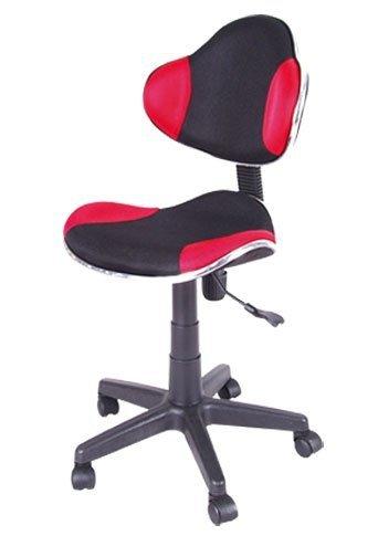 Fotel obrotowy Q-G2 czerwono-czarny