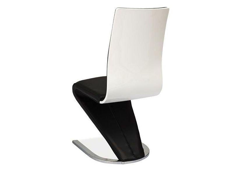 Krzesło H669 czarne/biały tył
