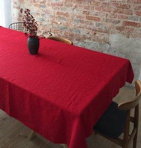 Obrus SIMPLE 145x300 czerwony