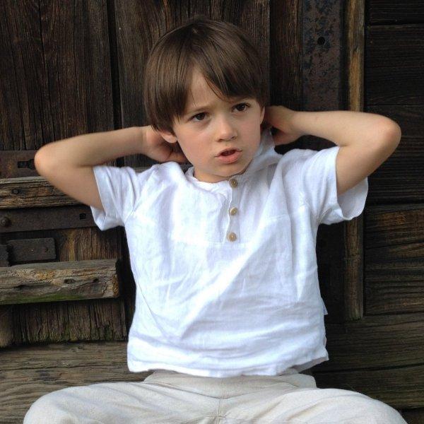 lniana bluzka dla chłopca 98