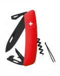 Scyzoryk SWIZA D03 ALLBLACK Czerwony GRAWER NA OSTRZU GRATIS !