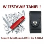 Victorinox Scyzoryk SwissChamp 1.6795 w zestawie z etui
