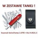 Victorinox Scyzoryk SwissChamp 1.6795 + Etui 4.0521.3