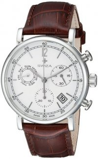 Zegarek SWIZA Alza Chrono SST white-brown WAT.0153.1001