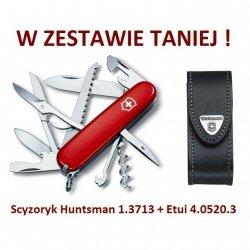 Victorinox Huntsman 1.3713 w zestawie z etui