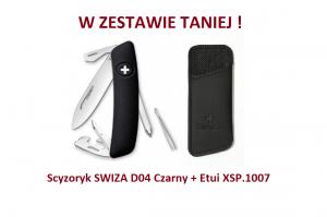Scyzoryk SWIZA D04 Czarny KNI.0040.1010 + Etui XSP.1007