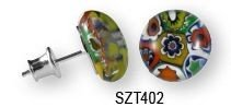 Kolczyki Sztyfty MURANO GLASS SZT402