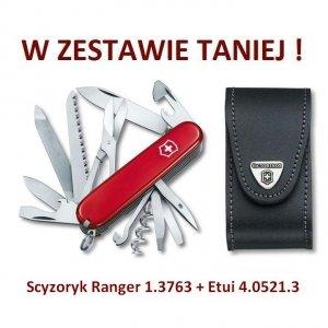 Victorinox Scyzoryk Ranger 1.3763 w zestawie z etui