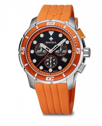 zegarek TETIS Chrono,SST, black,orange WAT.0463.1004