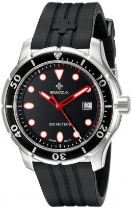 Zegarek SWIZA Tetis Gent SST black-black WAT.0461.1003