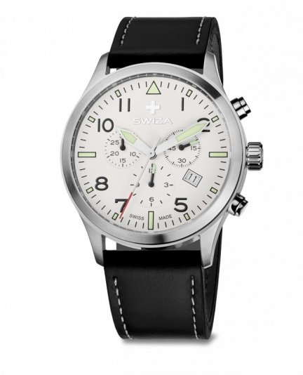 zegarek SIRIUZ Chrono, SST, white, black WAT.0353.1003