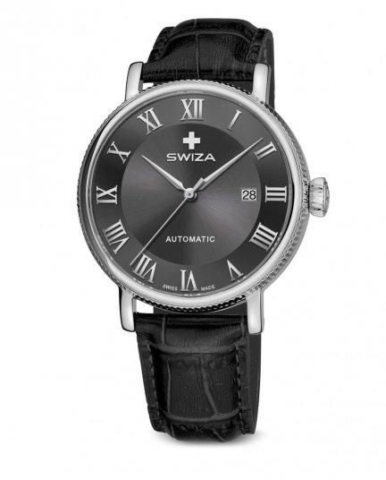 Zegarek SWIZA Alza AUTO SST grey-black WAT.0156.1002