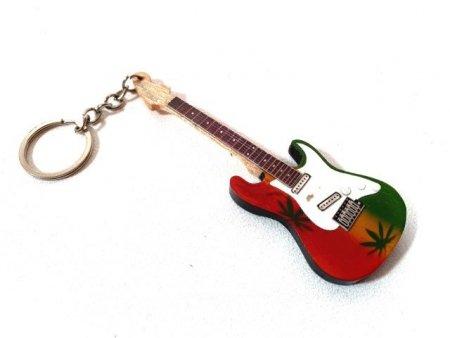 Breloczek - gitara - Bob Marley, mahoń; EGK-0641