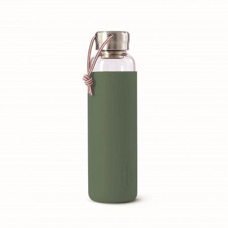 BB - Butelka szklana na wodę 600ml, oliwkowa