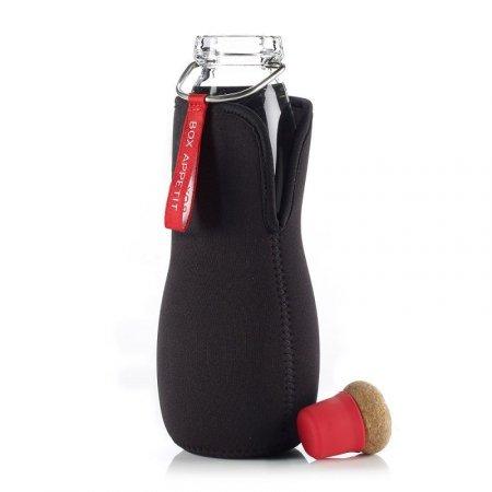 BB - Butelka na wodę EAU GOOD w pokrowcu, czerwona