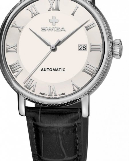 Zegarek SWIZA Alza Auto SST white-black WAT.0156.1001