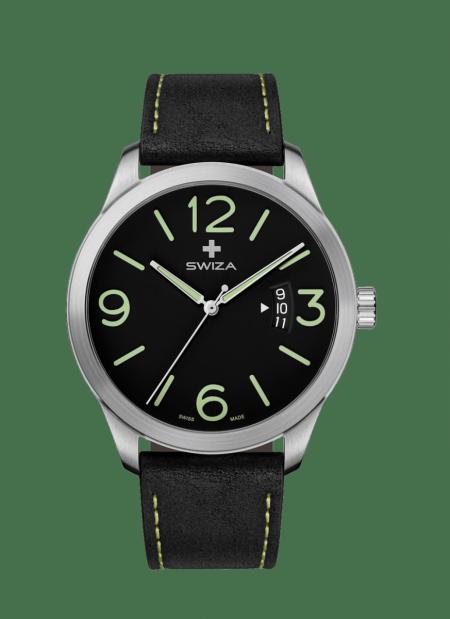 Zegarek SWIZA Magnum sst, black, green WAT.0871.1001