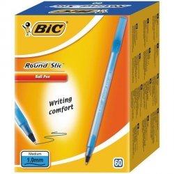 Długopis BIC Round Stic Niebieski Pudełko 60 (dlk4300)