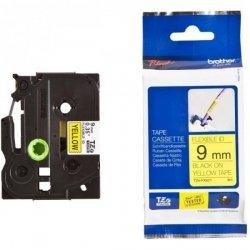 Taśma Brother laminowana elastyczna Flexi ID 9mm x 8m czarny nadruk /żółte tło