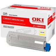 Toner Oki do C-5850/5950, MC560   6 000 str.   yellow
