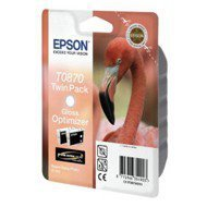 Zestaw tuszy  Epson  T0870  do  Stylus  Photo R1900  | 2 x 11,4ml | black