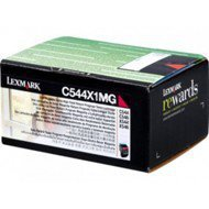 Kaseta z tonerem Lexmark do C-544/546 | zwrotna | 4 000 str. | magenta