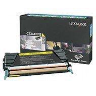 Kaseta z tonerem Lexmark do C-734/736 | zwrotny | 6 000 str. | yellow