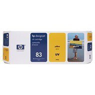 Tusz HP 83 do Designjet 5000/5500 | UV | 680ml | yellow