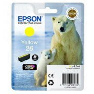 Tusz Epson T2614  do  XP-600/700/800 | 4,7ml |  yellow
