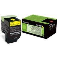 Kaseta z tonerem Lexmark 702HY do CS-310/410/510 | zwrotny | 3 000 str. | yellow