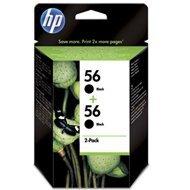 Zestaw dwóch tuszy HP 56 do Deskjet 450/5550, PSC 1215/2210   2 x 19ml   black
