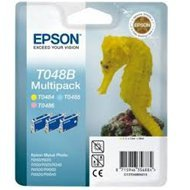 Zestaw tuszy   Epson  T048B do  R+200/300/340, RX+500/600 | 39ml | LC/LM/Y