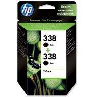Zestaw dwóch tuszy HP 338 do Deskjet 460/6540/6620/9800 | 2 x 480 str. | black