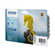 Zestaw tuszy Epson T0487  do Stylus R-200/300, RX-500/600 | 78ml | C/LC/M/LM/Y/B