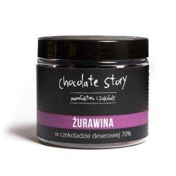 Żurawina w deserowej czekoladzie 70% 120g