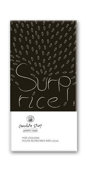 Czekolada mleczna z plakatem BALSI Surp/Rice [House Blend Milk 44%] 50g