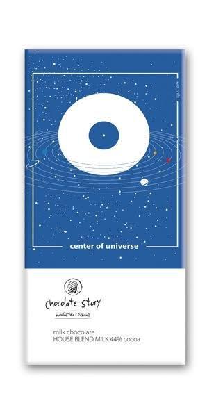 Czekolada mleczna z plakatem BALSI Center of universe [House Blend Milk 44% ]
