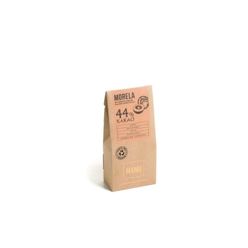 Morela w mlecznej czekoladzie 44%  - 80g
