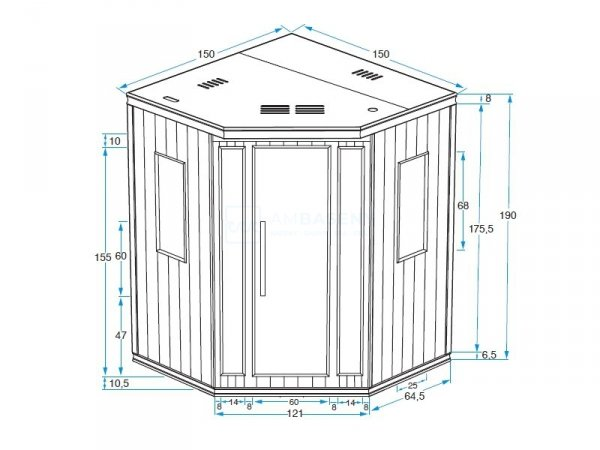 Sauna Infrared SALOME  3-4 os.