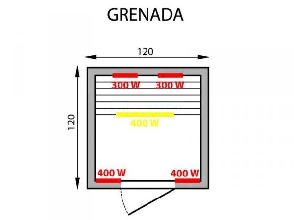 Sauna infrared GRENADA 2
