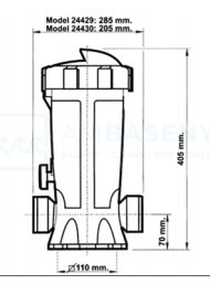 DOZOWNIK ASTRALPOOL 3 kg Inline 24429
